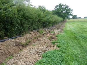 Getting the trenches dug takes time so its great to get a head start.